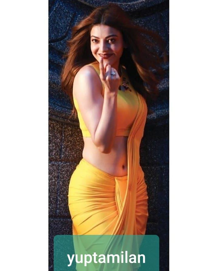 Kajal Agarwal Hot Navel Show In Saree Sexy Saree Wearing Reveals Her Hot Belly