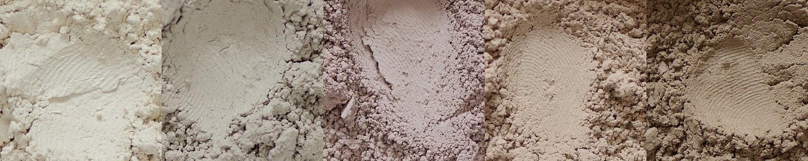 annabelle minerals cienie glinkowe soft coctail almond milk white coffee milkshake frappe americano swatche jak wyglądają mineralne cienie