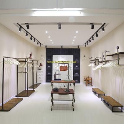 Kệ sắt shop thời trang hiện đại