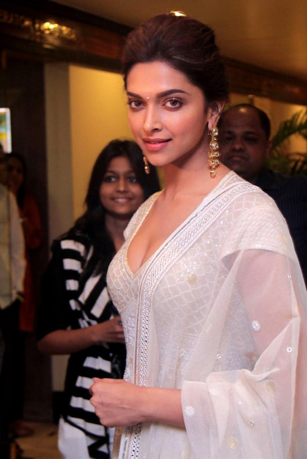 Deepika Padukone in White Designer Long Dress at an Event ...
