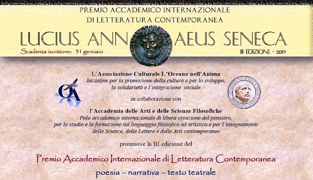 """Al via la terza edizione premio """"LUCIUS ANNAEUS SENECA"""", il bando completo"""
