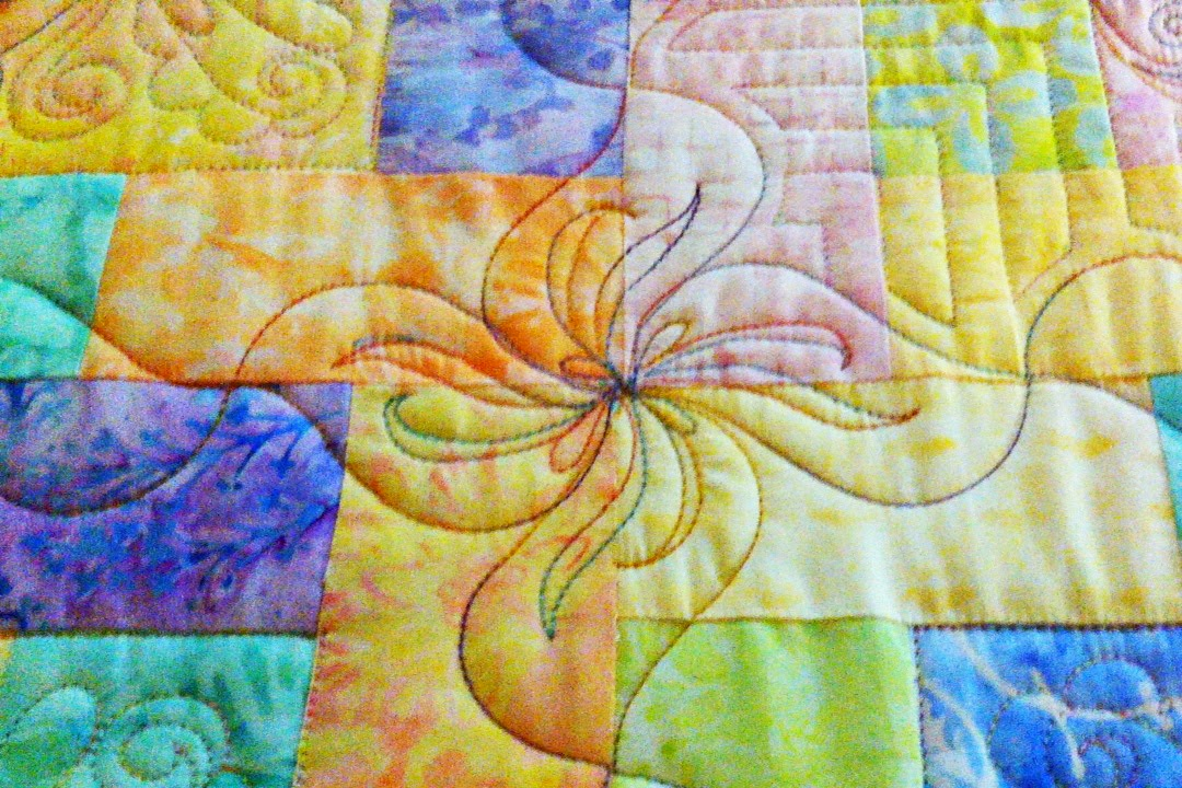 Terry Twist Free Motion Machine Quilting Pattern Image by Sally Terry Professional Machine Quilting and Classes