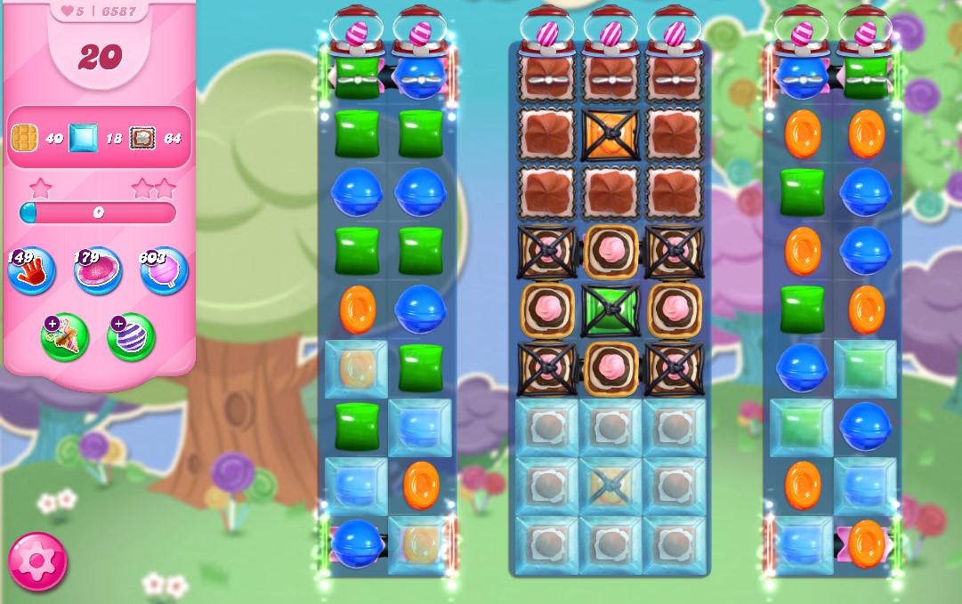 Candy Crush Saga level 6587