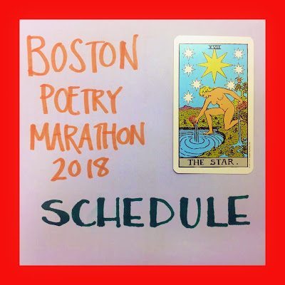bridget eileen announcement for the boston poetry marathon 2018 schedule