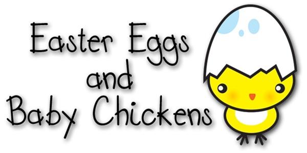Huevos de Pascua y pollitos bebé