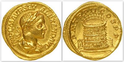 Ауреус, Александр Север. Древний Рим