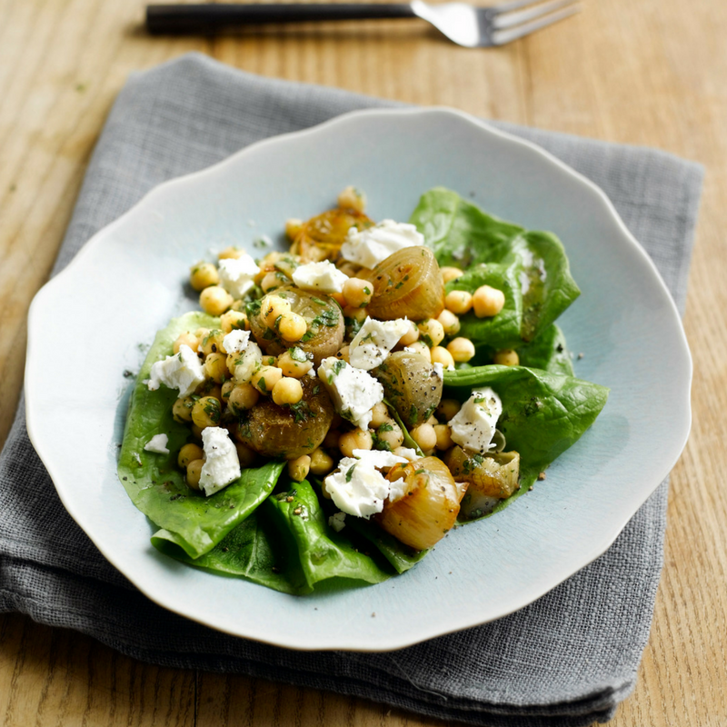 Chickpea, Roast Shallots And Fete Salad