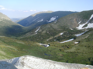 Fall River Canyon viewed from Alpine Visitor Center, Rocky Mountains N.P.