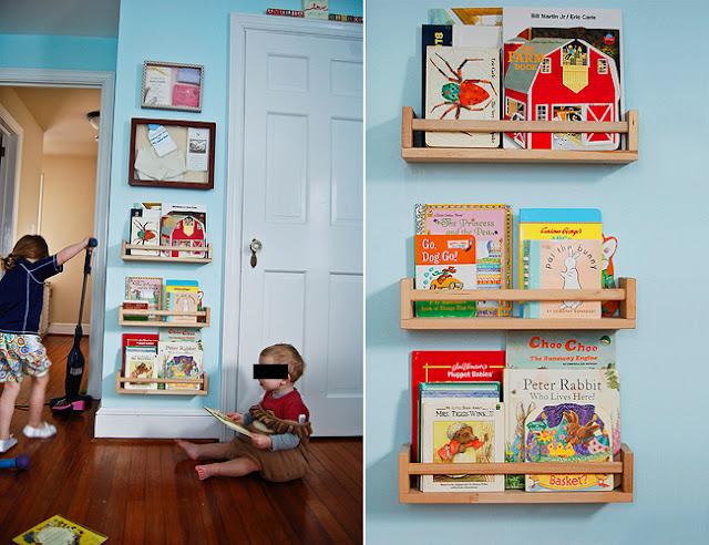 Budget DIY Of The Day: Spice Rack Kid's Bookshelf : Table