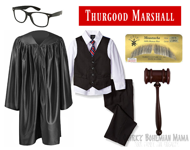 boy's Thurgood Marshall Halloween Black History Month costume