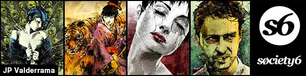 JP Valderrama aka Fresh Doodle - Society6 art prints banner