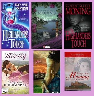 Portadas del libro romántico paranormal El toque del highlander, de Karen Marie Moning