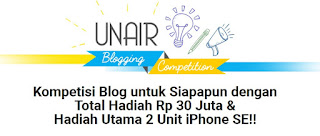 Unair Blogging Competition 2016, Hadiah 30 Jt