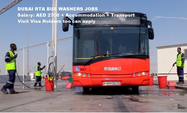 Dubai Rta Jobs 2018 Latest Bus Washers Vacancy