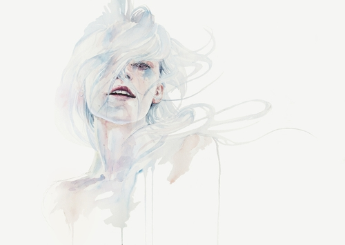 05-Ghost-in-your-Mind-Silvia-Pelissero-agnes-cecile-Watercolor-and-Oil-Paintings-Fading-and-Appearing-www-designstack-co