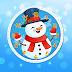 Happy Snowman Clock Screensaver