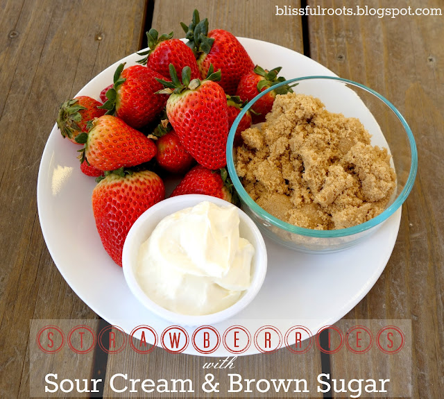 Strawberries with Sour Cream & Brown Sugar