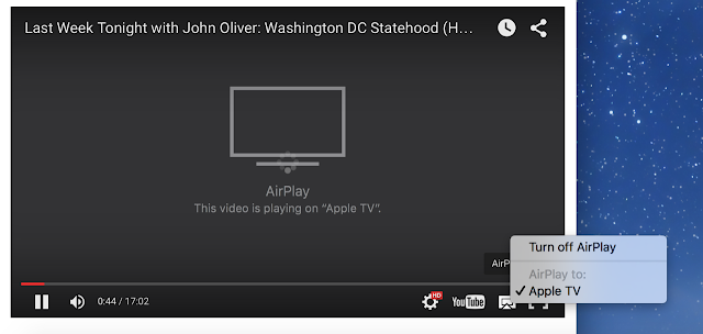 Airplay option in Safari