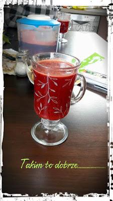 sok z buraka, marchwii, jabłek, cytryny i pomarańczy