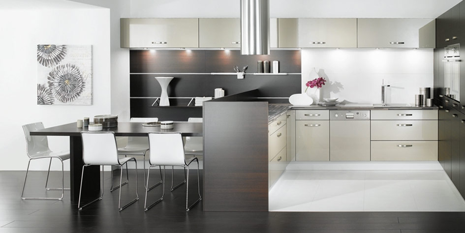black and white kitchen | Best Modern Furniture Design Directory Blog