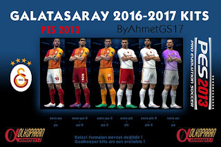PES 2013 Galatasaray Kits 2016-17 By AhmetGS17