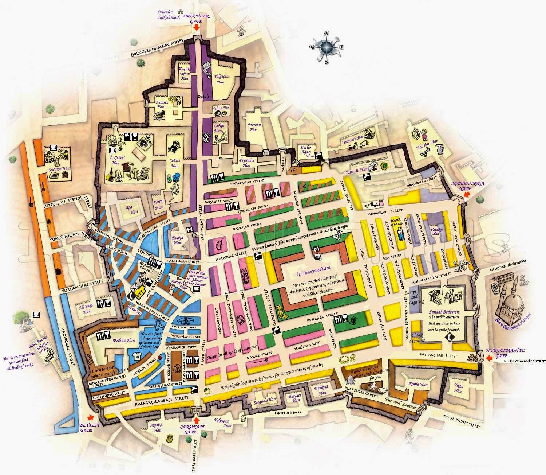 карта рынок Гранд Базар Стамбул