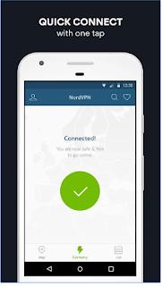 Terhubung ke aplikasi NordVPN