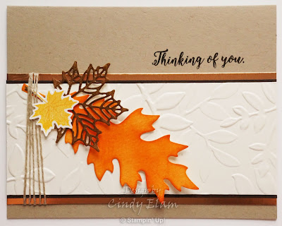 Layered Leaves, Stampin' Up!, Thinking of You card, Die cuts, Big Shot