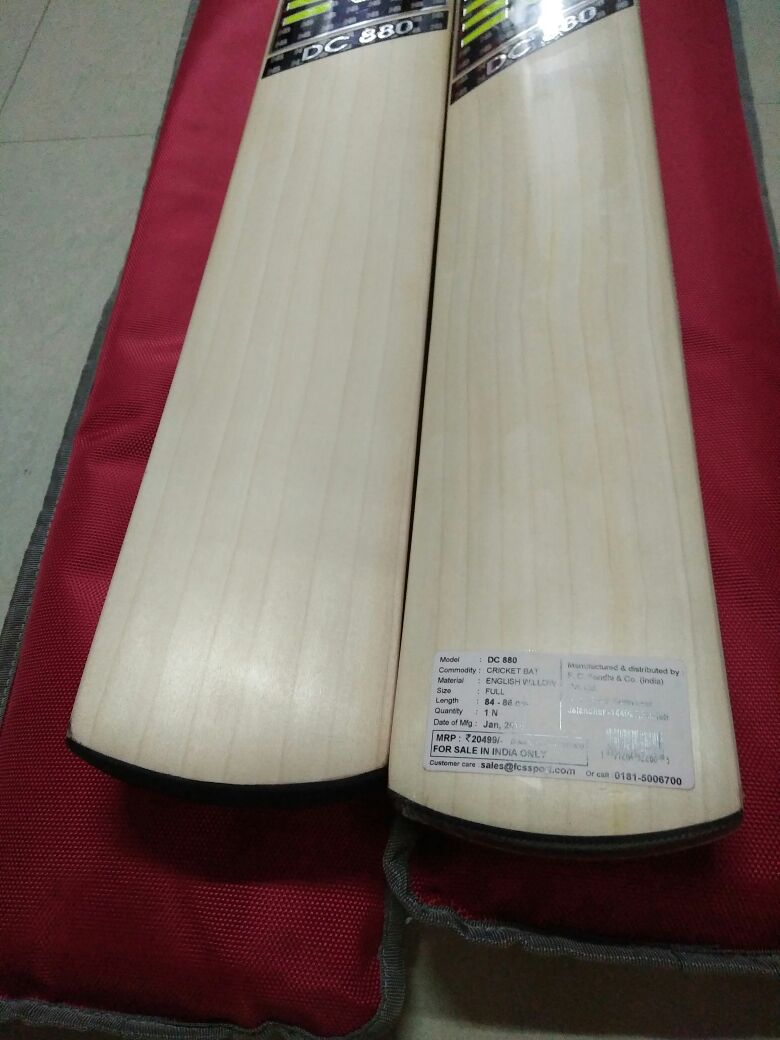 Produced Using Grade 2 English Willow Dc 880 Will Give You Fine Delicate And Well Dampness Bat Surface For Stroke Making