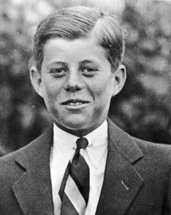 30 Pictures Of World Leaders In Their Youth That Will Leave You Speechless - John F. Kennedy At Age 10, Hair Slicked Back, 1927