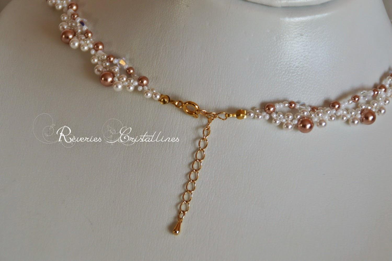collier perles nacrées