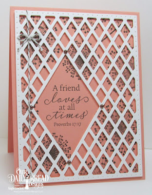 ODBD Custom Lattice Background Die, ODBD To My Friend, Card Designer Angie Crockett