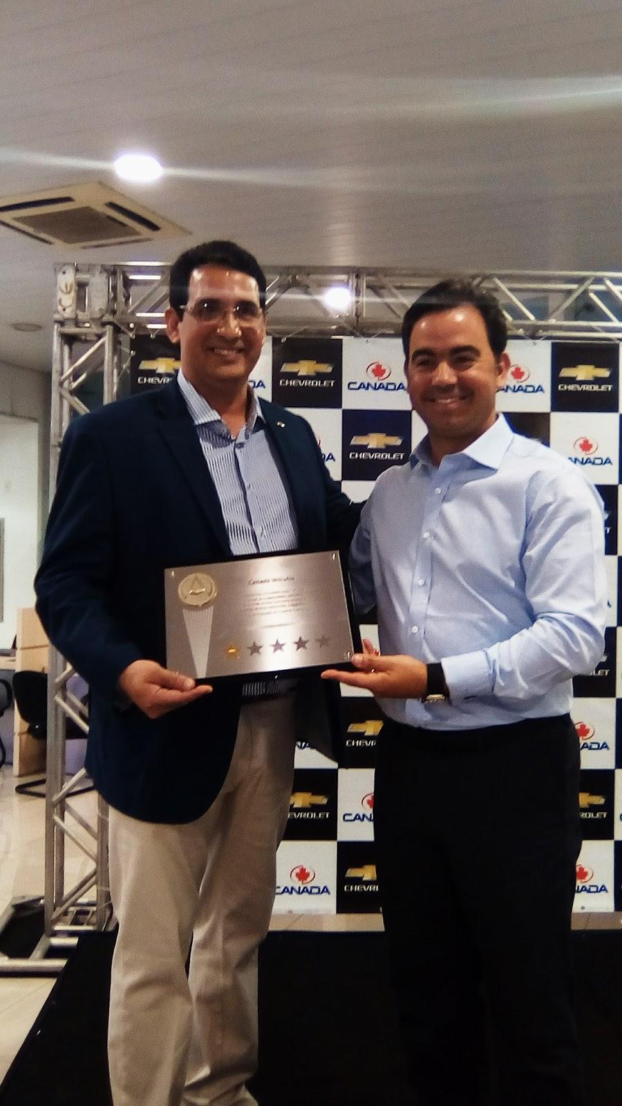 Canadá Veículos recebe certificação Concessionário A da Chevrolet