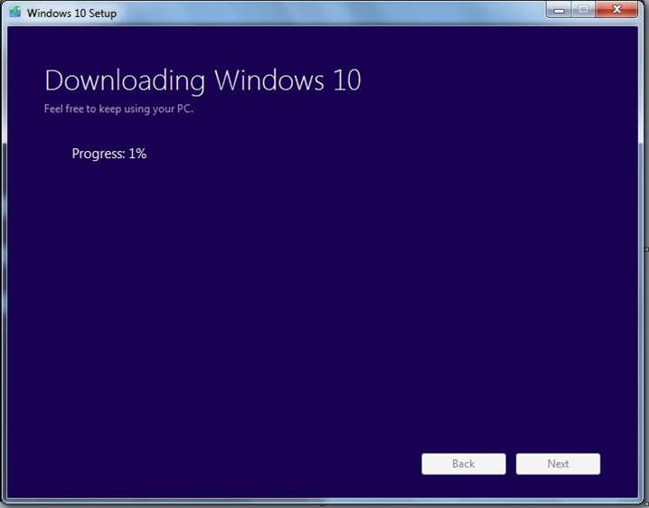 Downloading now window 10