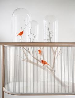 Fantástica jaula para aves.