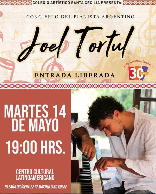 Pianista argentino da concierto organizado por el Colegio Santa Cecilia