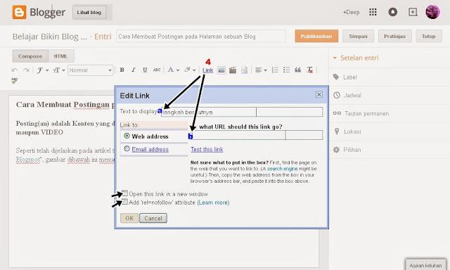 Membuat sebuah Link pada Postingan