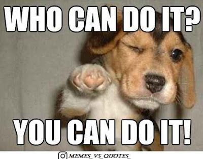 Dog say you can do it