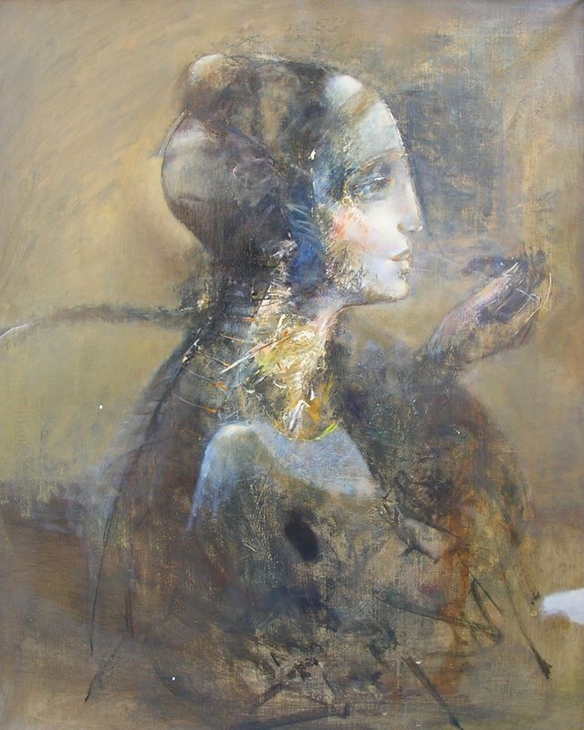 Bogusław Jagiełło 1960 | Polish symbolist painter | A Sphinx in Poznan