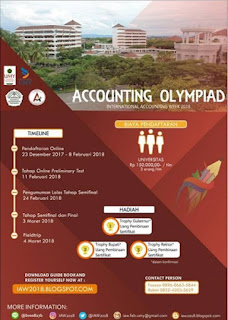 Accounting Olympiad International Accounting Week 2018 UMY