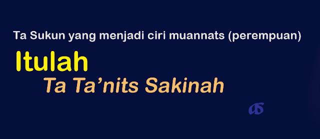 Postingan ini masih merupakan bagian dari  Ta Ta'nits Sakinah