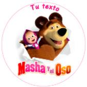 Oblea para tartas Masha y el Oso