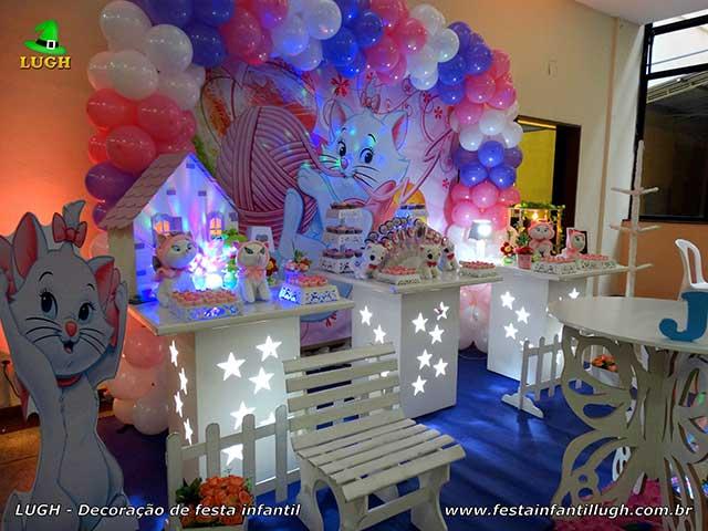 Decoração infantil Gata Marie - Mesa temática de aniversário