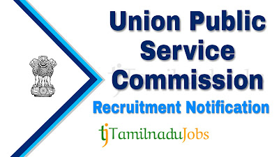 UPSC Recruitment notification of 2019, govt jobs for MBBS