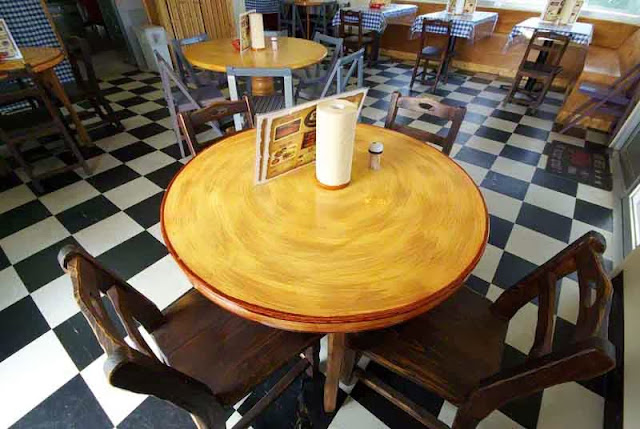round table at restaurant