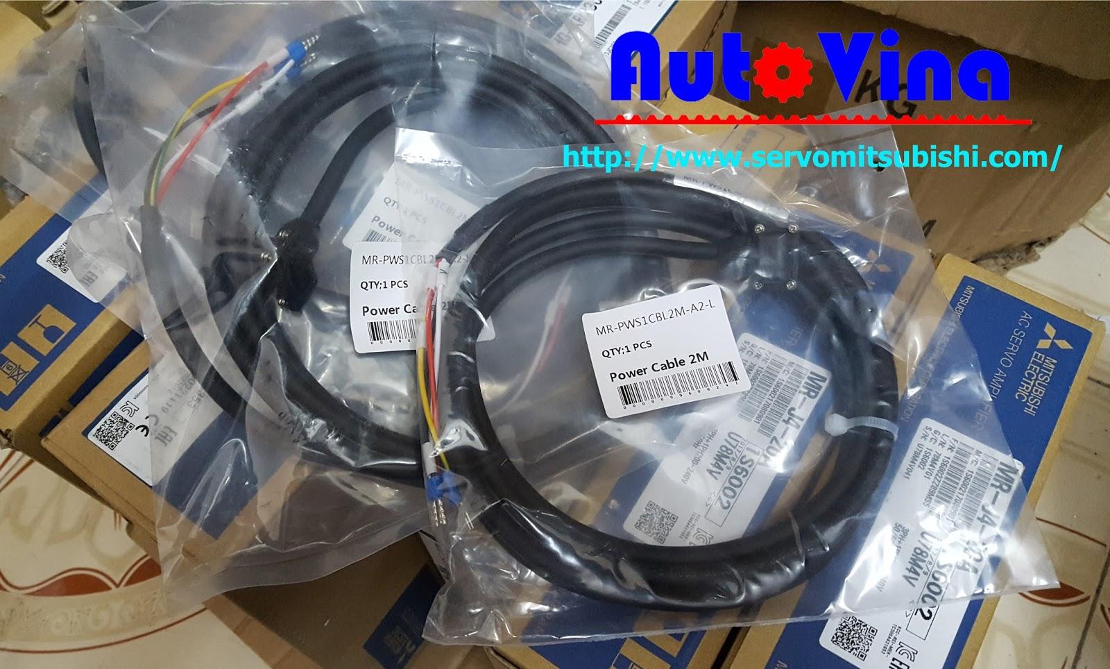 Phụ kiện cable kết nối Servo Mitsubishi MR-PWS1CBL2M-A2-L Power cable 2M