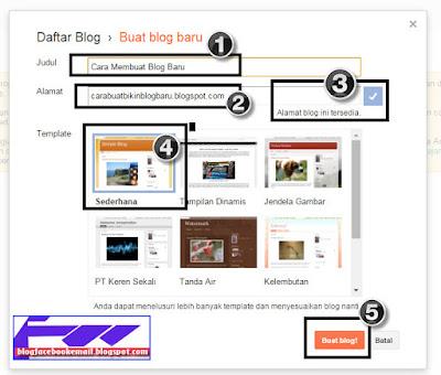 belajar cara membuat alamat blog di blogspot