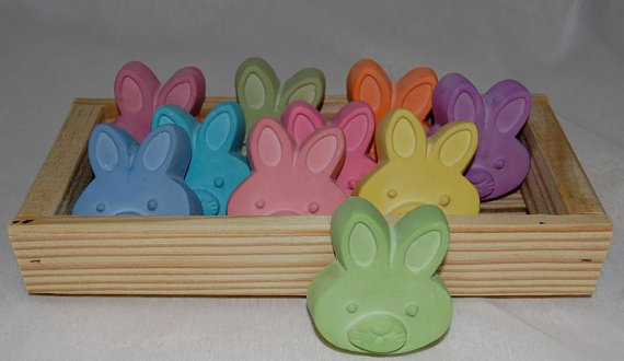 Easter basket ideas for toddlers the momma diaries easter bunny sidewalk chalk from a bath shoppe on etsy negle Images