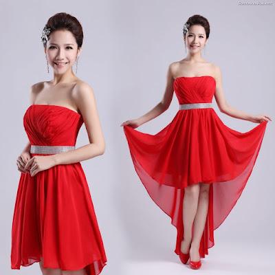 Vestidos de Damas de Honor Rojo