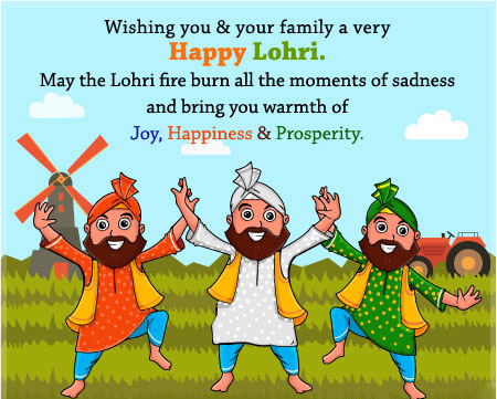 Happy Lohri Greetings Cards 2019